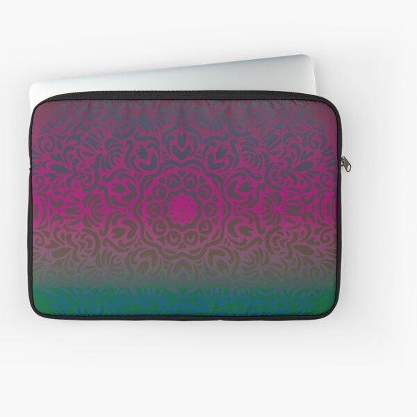 Mystical Floral Mandala Laptop Sleeve
