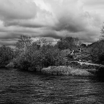 The River Barrow at Baile na Greine lock, County Carlow, Ireland. by AndyJones