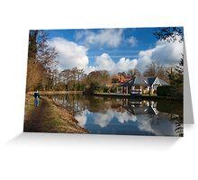 Wey Navigation, Weybridge, Surrey Greeting Card