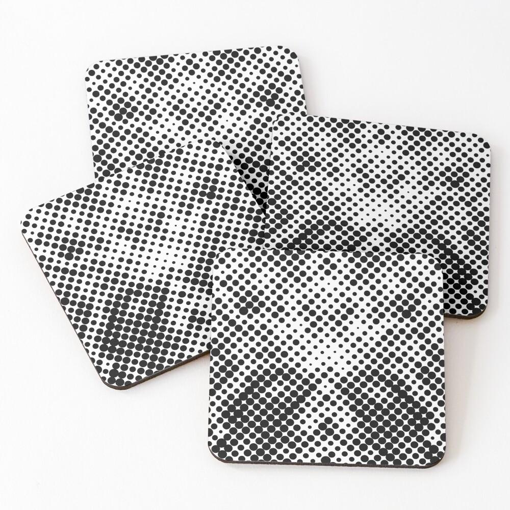 Halftone  Coasters (Set of 4)