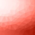Living coral geometric mesh ombre  by PLdesign