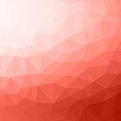 «Living coral geométrica malla ombre» de PLdesign