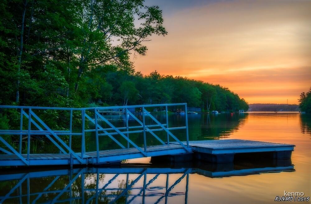 Sunset at Kearney Lake by kenmo