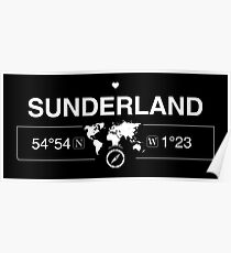 Kartengestaltung von Sunderland England Poster