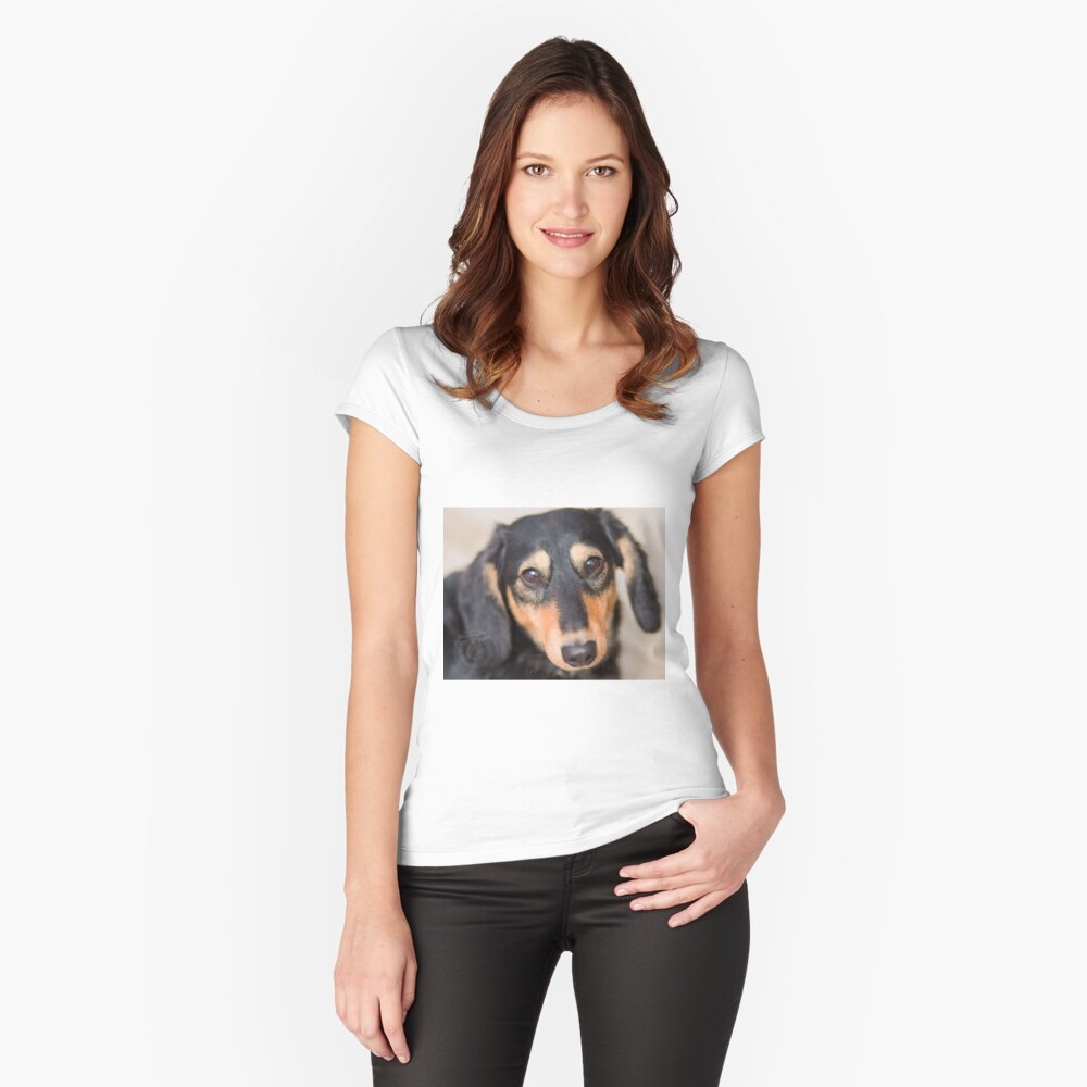 Dog Fitted Scoop T-Shirt