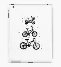 Kids' bikes, bicycles, watercolor bicycles iPad Case/Skin