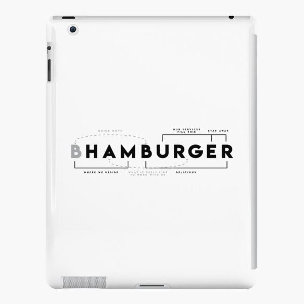 Hamburger Dissected  iPad Snap Case