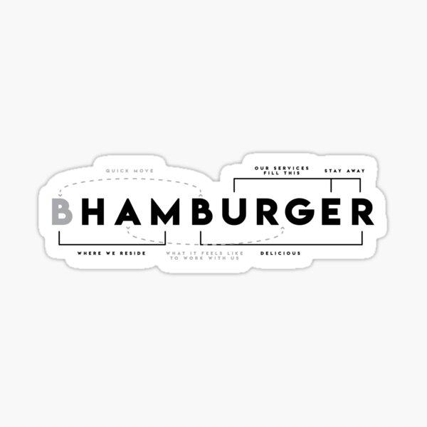 Hamburger Dissected  Sticker