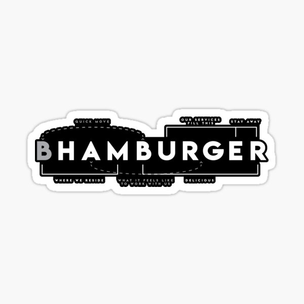Hamburger Dissected - Charcoal Sticker
