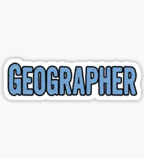 Tshirt Gifts For Geographers Sticker