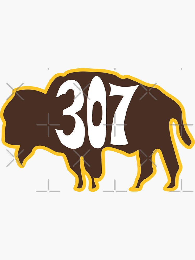 Hand Drawn Wyoming Buffalo 307 Brown Gold by itsrturn