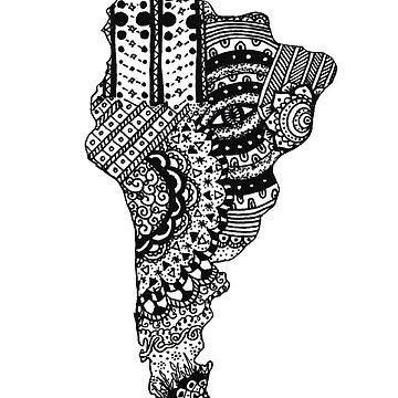 doodle mandala de américa del sur de MariaSandia