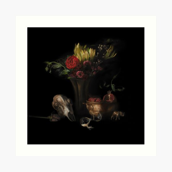 This Too Shall Pass - An original still-life painting by artist Brooke Figer Art Print