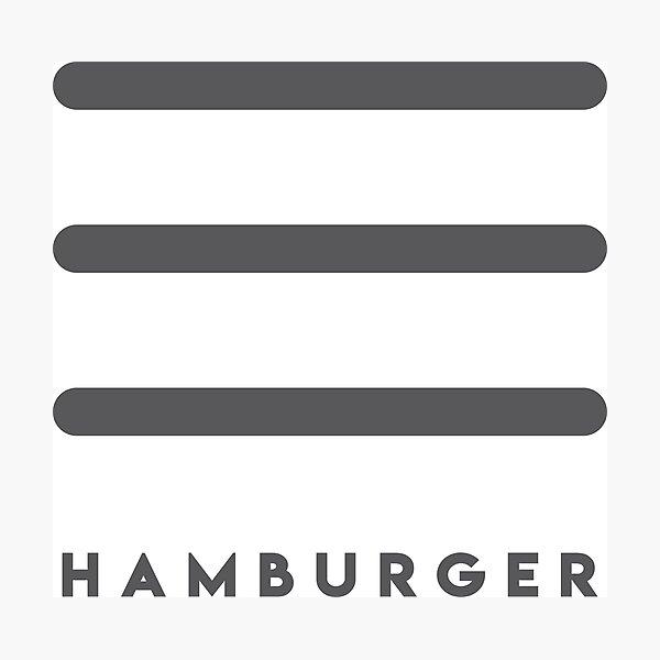 Hamburger Logo - Thin Lines Photographic Print