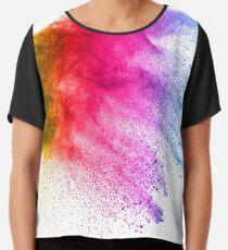 Farbexplosion Chiffontop