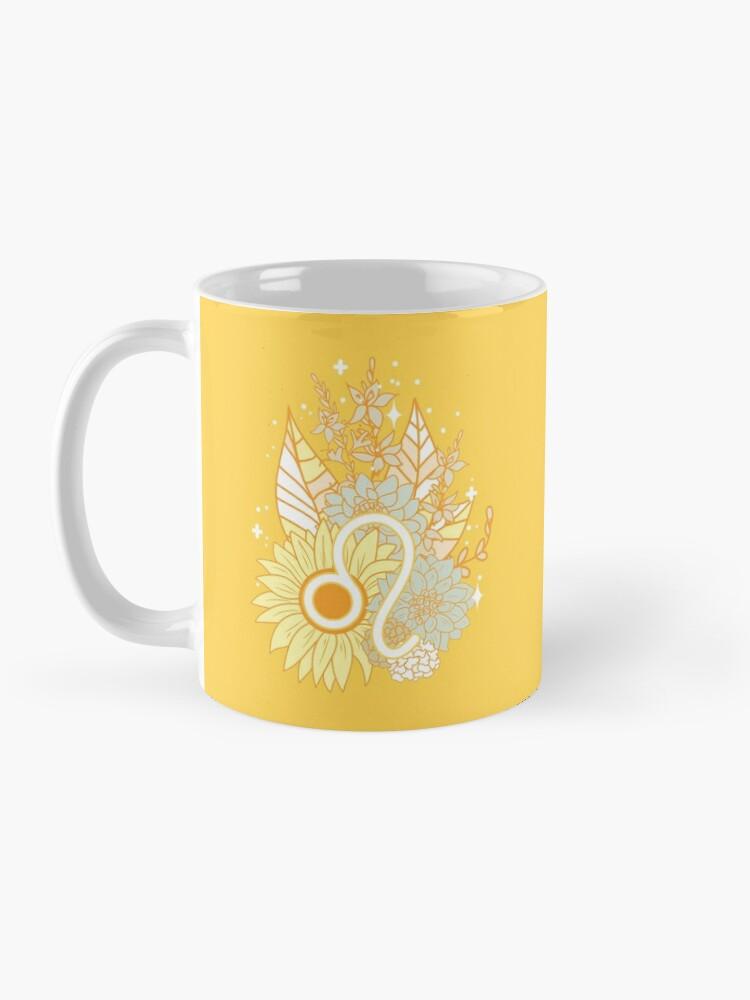 Alternate view of Leo Flowers - GOLD Mug