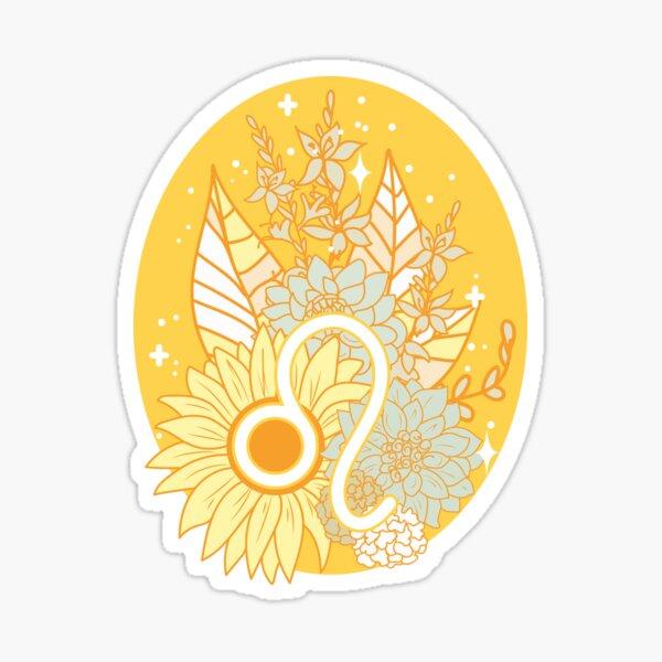 Leo Flowers - GOLD Sticker