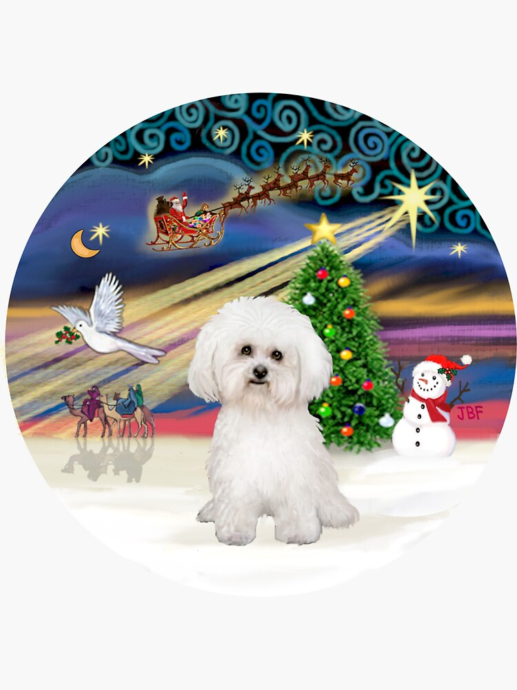 Christmas Magic with a Bichon Frise (#2) by JeanBFitzgerald