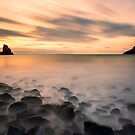 Talisker Bay Sunset by derekbeattie