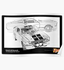 Gone In 60 Seconds - 1967 Shelby Mustang GT500 Poster