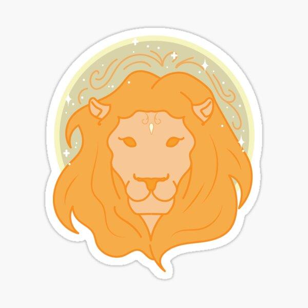Leo Lion - GOLD Sticker