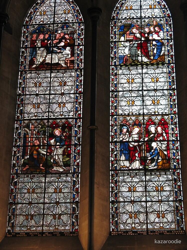 TWIN CHURCH WINDOWS by kazaroodie