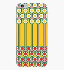 Scandi Midcentury Modern Retro Geometric Eggs Tomatoes Stripey Pattern iPhone Case