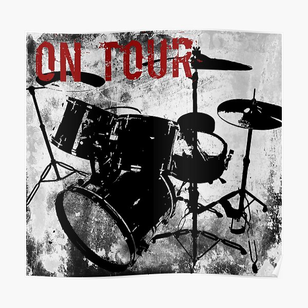 Rock-n-Roll Drums Poster