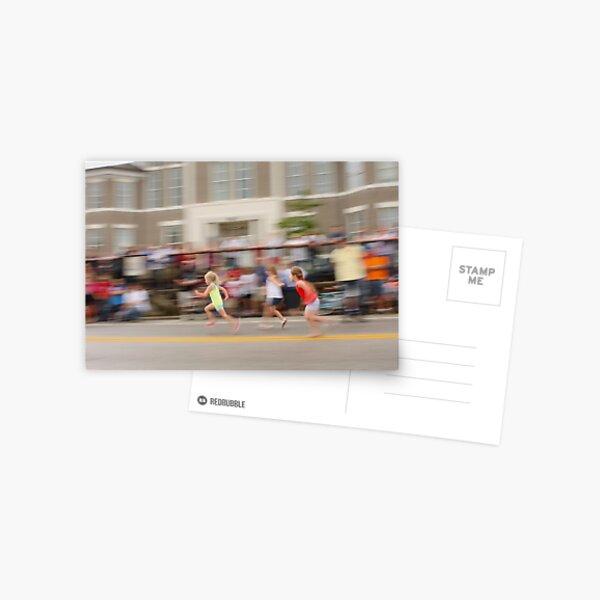Young Girls Foot Race Postcard