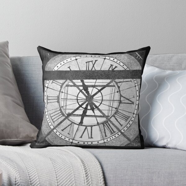 The Clock at Musée d'Orsay Throw Pillow