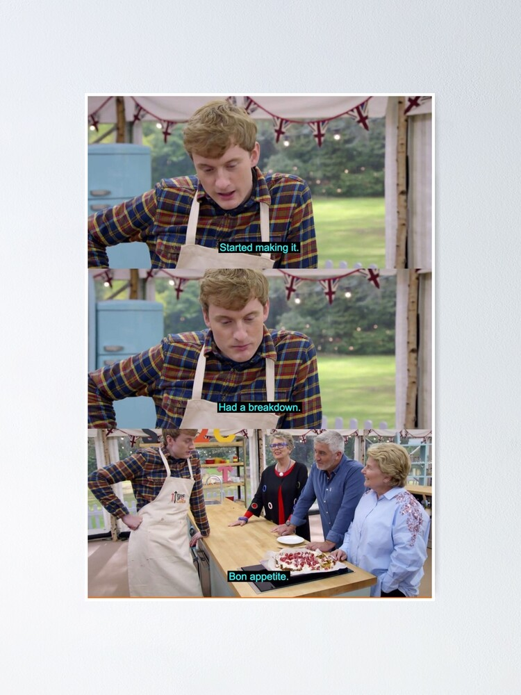 Gift Print The Great British Bake Off Poster Wall Art Home Decor