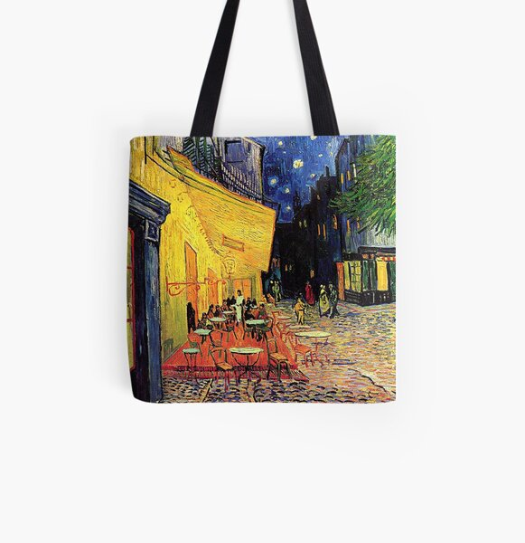 The Cafe Terrace on the Place du Forum, Arles, at Night,  Vincent van Gogh All Over Print Tote Bag
