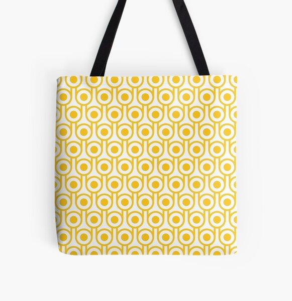 Scandi Midcentury Modern Retro Geometric Eggs Pattern All Over Print Tote Bag
