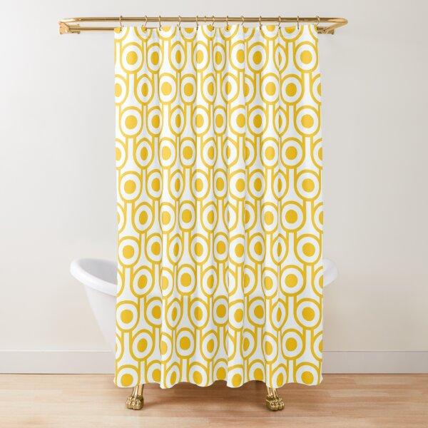 Scandi Midcentury Modern Retro Geometric Eggs Pattern Shower Curtain