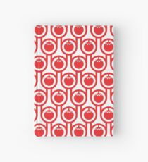 Scandi Midcentury Modern Retro Geometric Tomatoes Pattern Hardcover Journal