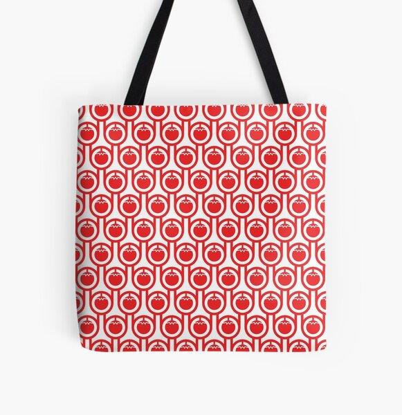 Scandi Midcentury Modern Retro Geometric Tomatoes Pattern All Over Print Tote Bag