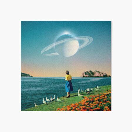 Watching Planets Art Board Print