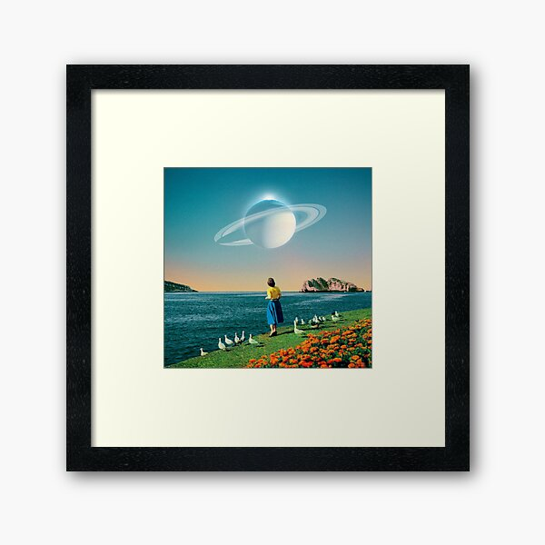 Watching Planets Framed Art Print