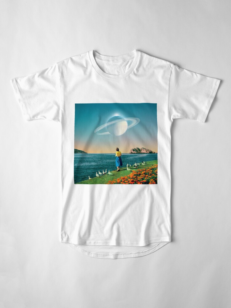 Alternate view of Watching Planets Long T-Shirt