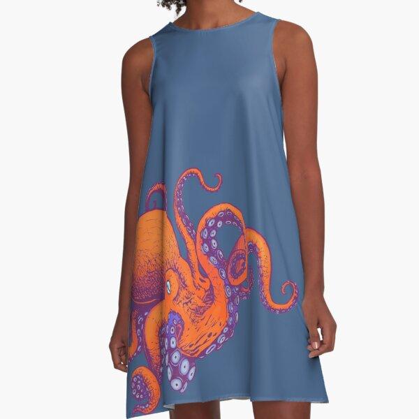 Octopus World A-Line Dress