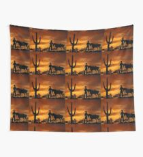 Cowgirl Sunset Wall Tapestry
