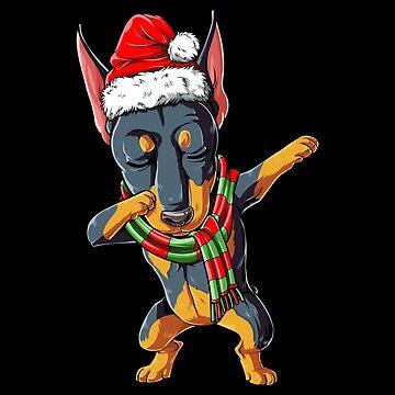 Dabbing Doberman Santa T Shirt Navidad Niños Niños Hombres Regalos de LiqueGifts