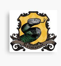 Slytherpuff House Crest Canvas Print