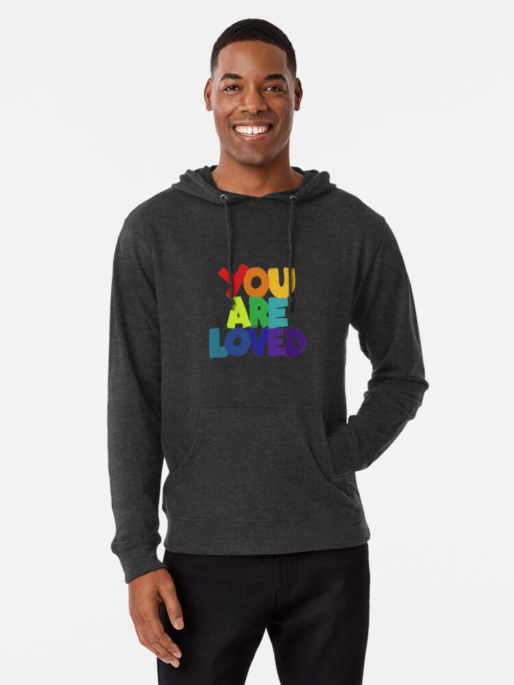 Alternate view of you are loved Lightweight Hoodie