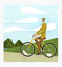 Tweed Cyclist on Mice Power Poster Photographic Print