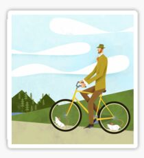 Tweed Cyclist on Mice Power Poster Sticker