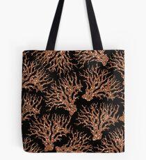 Bolsa de tela Coral rosa negro azabache