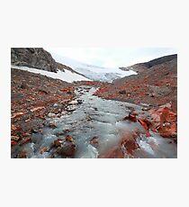 Glacier outflow Photographic Print