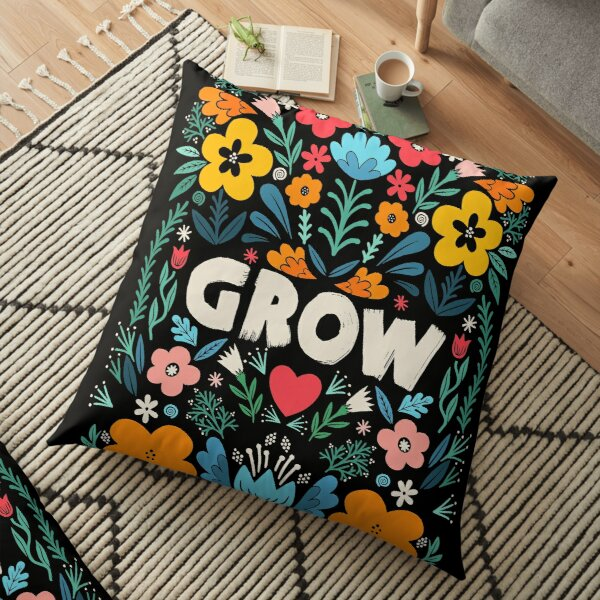 grow garden Floor Pillow