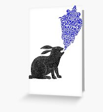 Rabbit Sings the Blues Greeting Card